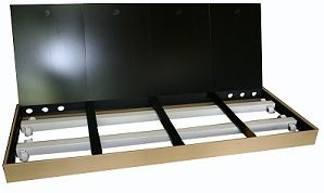 Aquarienabdeckung 100x40 cm optional mit T5- oder LED- Beleuchtung